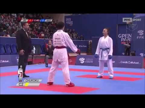 Travat Khaksar Vs Sabina Zakarova - Karate 1 World Premier League Paris 2018