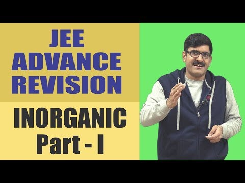 Inorganic part-1 Revision JEE-Advanced 2017