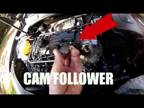 how to replace cam follower vw audi 2 0 fsi or tfsi engine. Black Bedroom Furniture Sets. Home Design Ideas