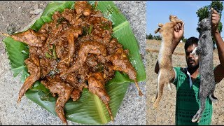 Rabbit old style gravy villege food Recipe//handicapped cooking my brother //india all village food
