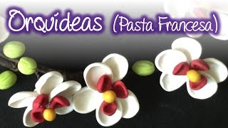 DIY Orquideas de pasta francesa