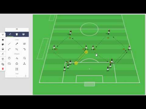 Diamond Training Session for 2-3-1, 4-3-1 or 4-3-3