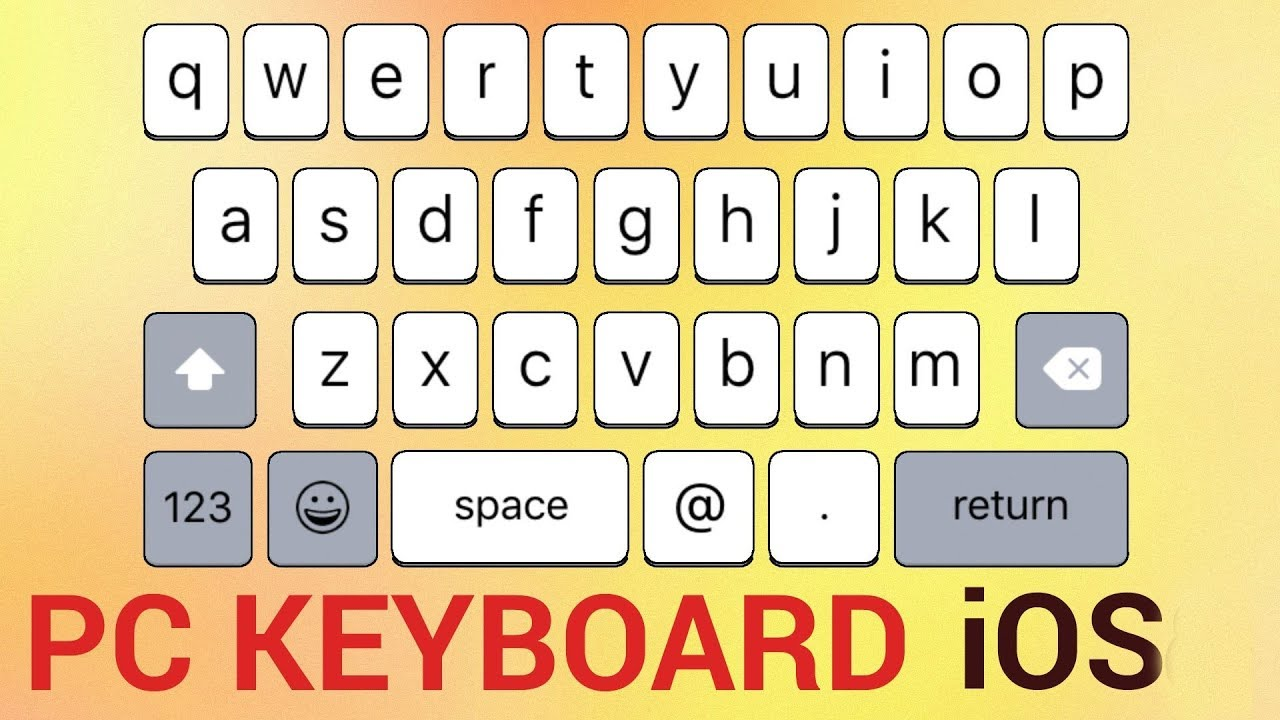 1fcd5d2be4a How To Turn Your iPhone or iPad into a Temporary Keyboard for PC ...