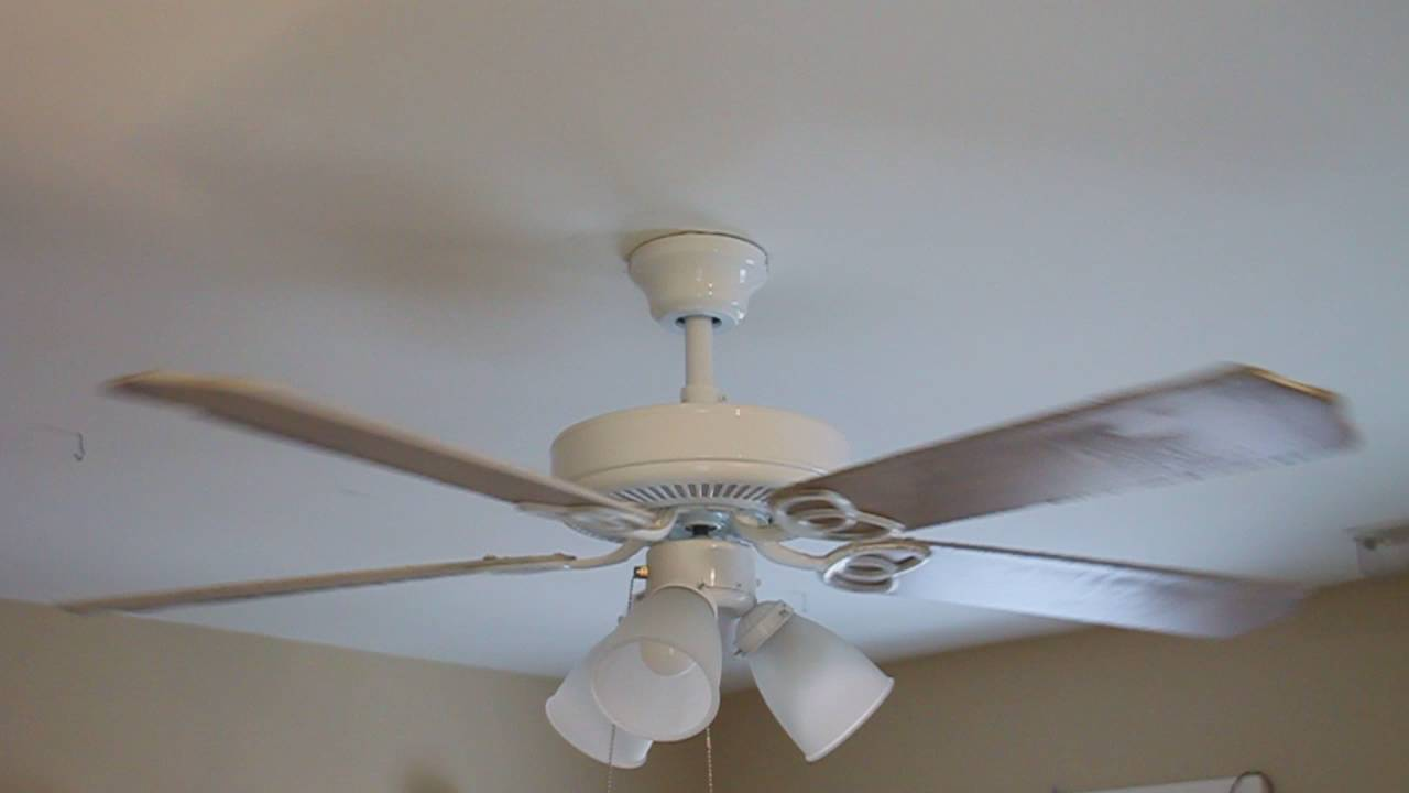 52 Quot Hampton Bay Brookhurst Ceiling Fan White Bleached
