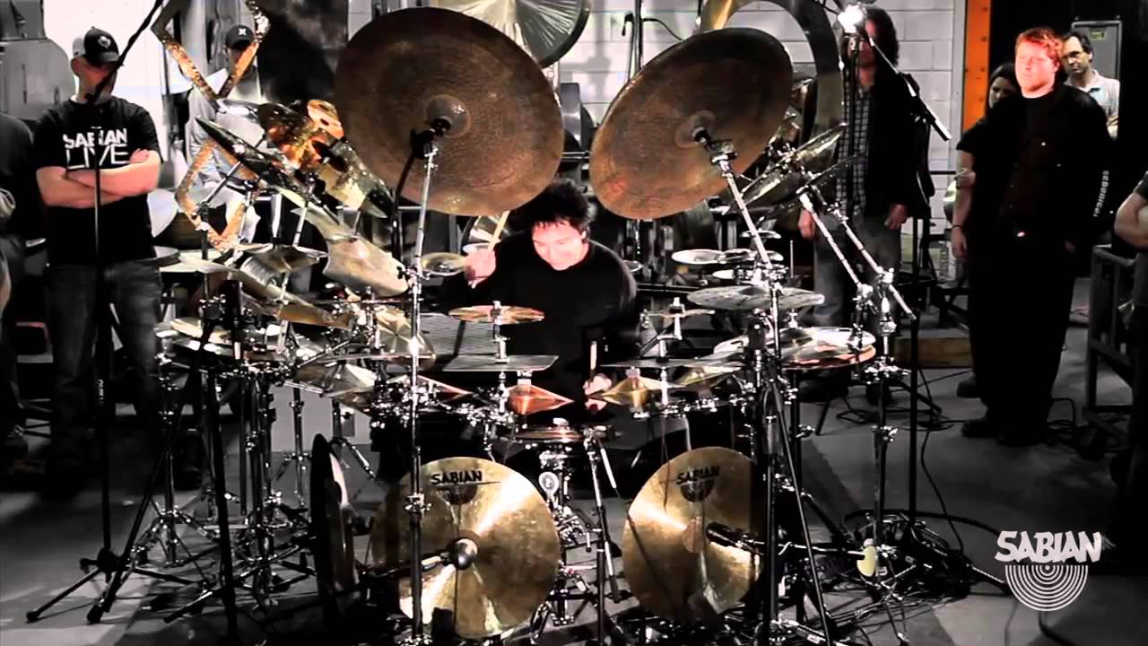 Terry Bozzio S All Cymbal Drum Set Youtube