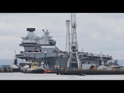 Queen Elizabeth sets sail for sea trials