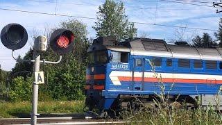 Товарный поезд 2. Video eines Güterzuges.