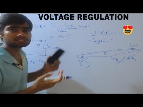 Lec08 Voltage  regulation of transformer in hindi fully explained with Phasor.