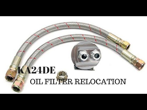 Project 240sx Build Oil Cooler, Oil Filter Relocation and Oil Temperature gauge Install Part 2