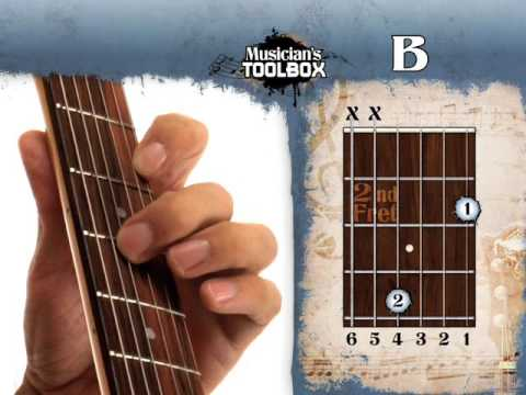 How to play the B major chord on guitar - YouTube