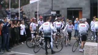 Sykkelturen Oslo - Bergen,  til ABB festivalen i Bergen 3 september 2011