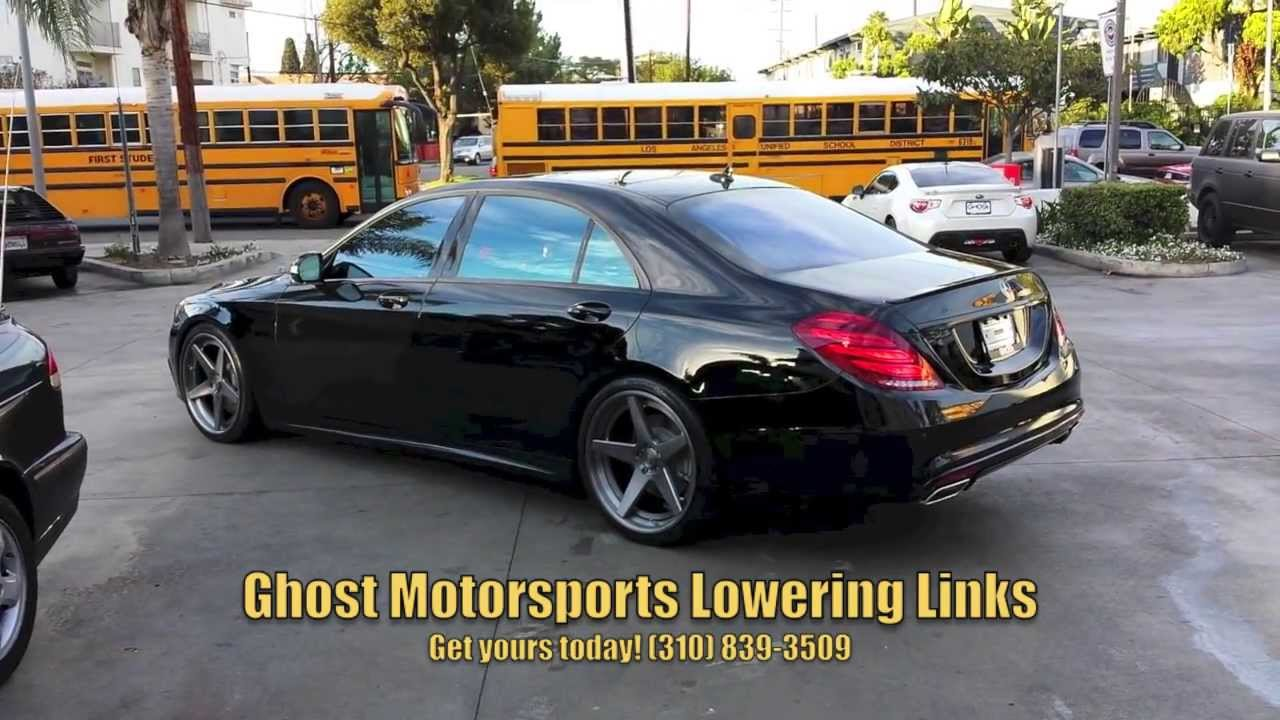 Lowered 2014 Mercedes S Class W222 Lowering Links For