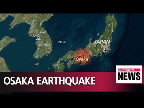 Magnitude 6.1 earthquake hits Osaka; no tsunami warning issued