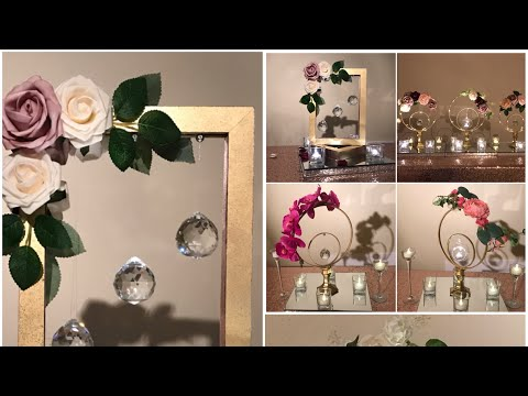DIY- Frames & Embroidery Hoops centerpiece DIY- bridal shower Decor Diy- wedding Decor