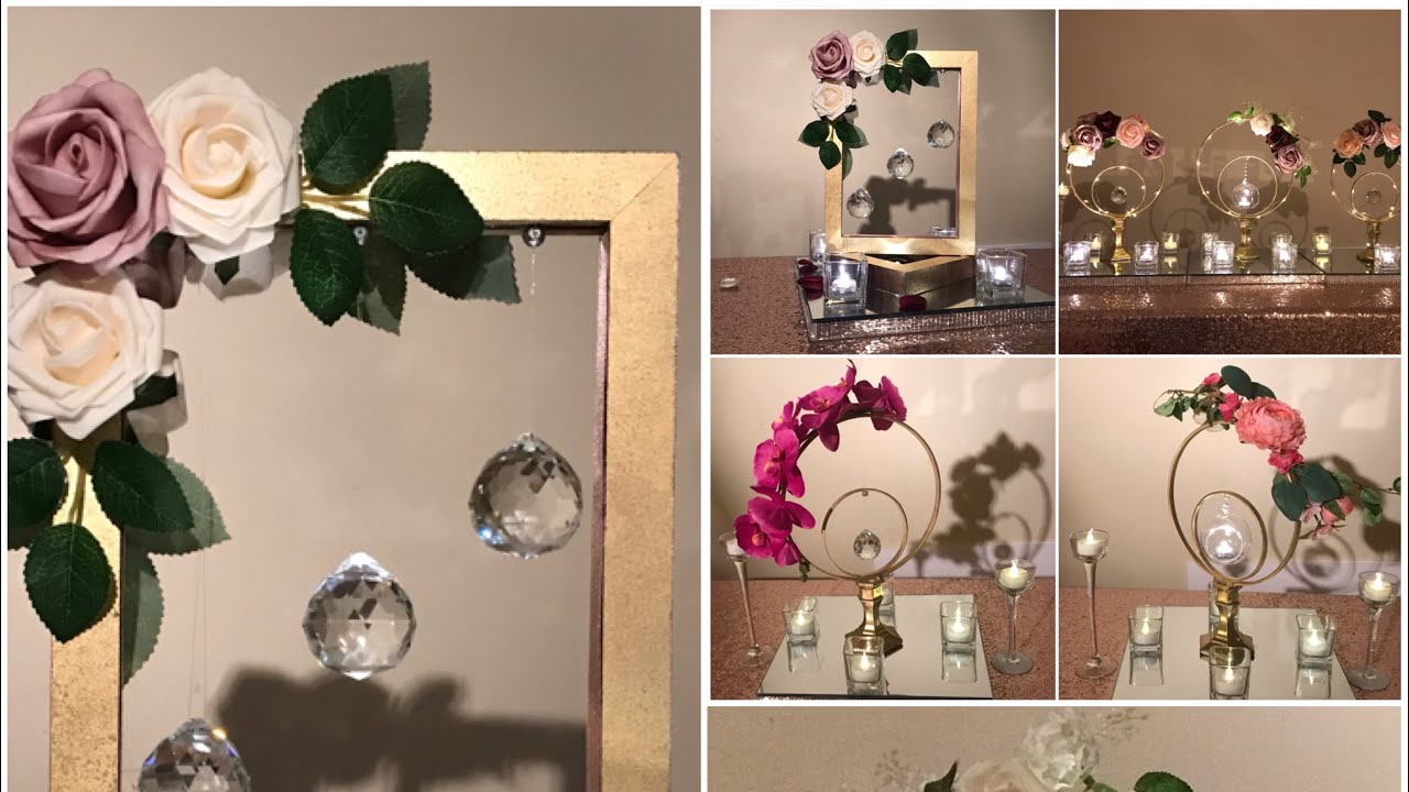 Diy Frames Embroidery Hoops Centerpiece Bridal Shower Decor Wedding