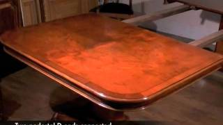 How To Set Up Regency Pedestal Dining Table Leaf System