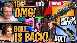 Streamers USE the *NEW* Legendary Tactical Shotgun & *UNVAULTED* Bolt! - Fortnite
