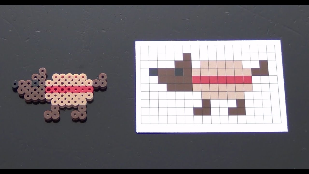 How To Make A Cute Perler Bead Dog In A Hot Dog Costume