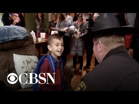 Chris Matthews - Police officers escort 7 year old boy to final chemotherapy treatment.