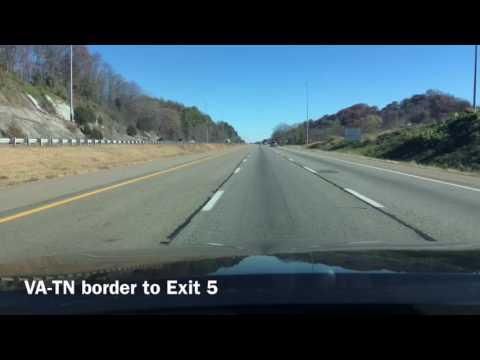 Time-lapse: Bristol VA to Bristol TN & back to Bristol VA