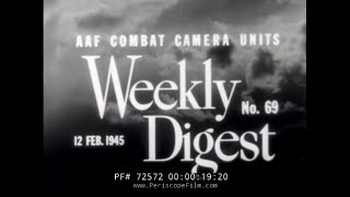 1945 ARMY AIR FORCE WEEKLY DIGEST #69 PHILIPPINE OPERATIONS 1945  72572
