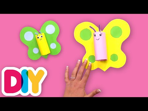 How to make BUTTERFLIES using Paper Roll | Fast-n-Easy | DIY Arts & Crafts for Kids