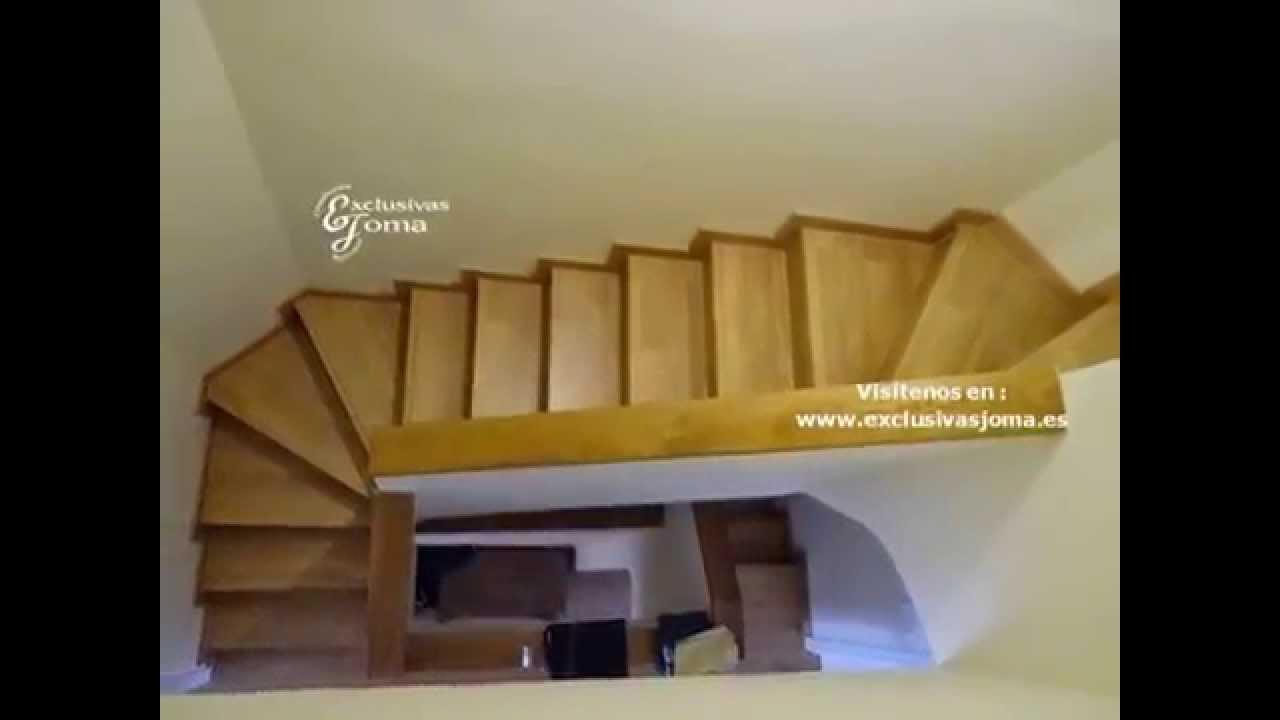 Forrado de escaleras en tarima de madera armarios for Escalera electricista madera