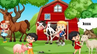 Zwierzęta na wsi część 1 (odgłosy zwierząt, zagadki, zadania)