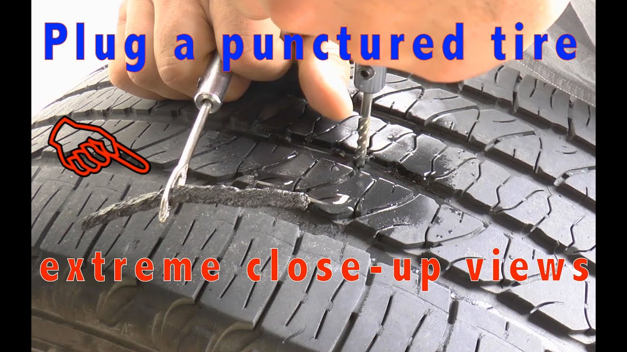How To Plug a Car Tire - Tire Repair