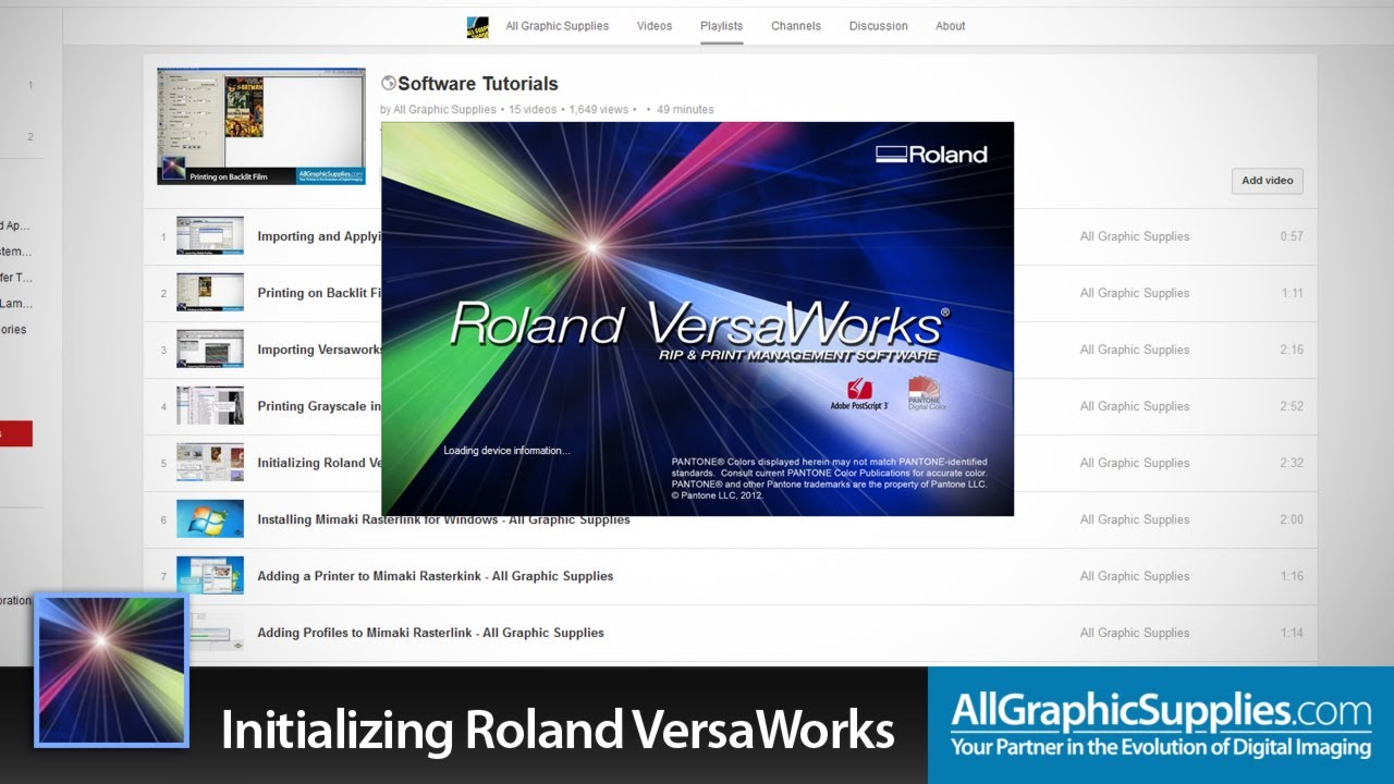 Initializing Roland VersaWorks and Setting Defaults - All Graphic Supplies