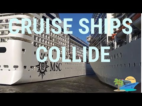 MSC Cruise Ships Collide!!! Breaking News!!!