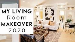 INTERIOR DESIGN   My Living Room Makeover 2020
