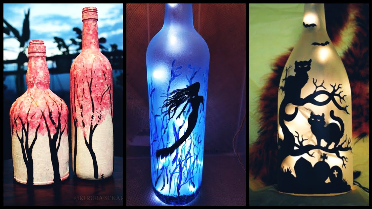Beautiful and gorgeous painted wine bottle decoration ideas for your home