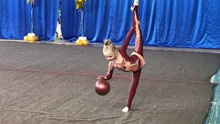 Художественная гимнастика. Мяч. Rhythmic gymnastics . Exercise with a ball.