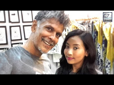 Milind Soman's First Public Appearance With His Girlfriend | LehrenTV