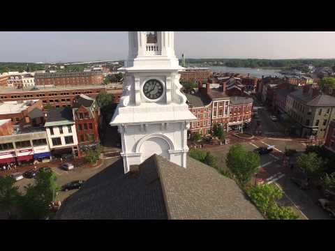 Downtown Portsmouth NH in 4K with DJI Phantom 3