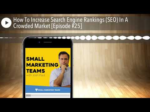 How To Increase Search Engine Rankings (SEO) In A Crowded Market [Episode #25]