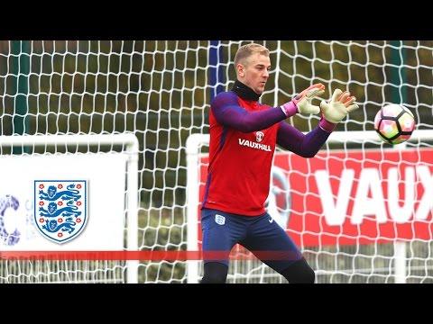 Joe Hart tests young goalkeeper Jordan Pickford | Inside Training