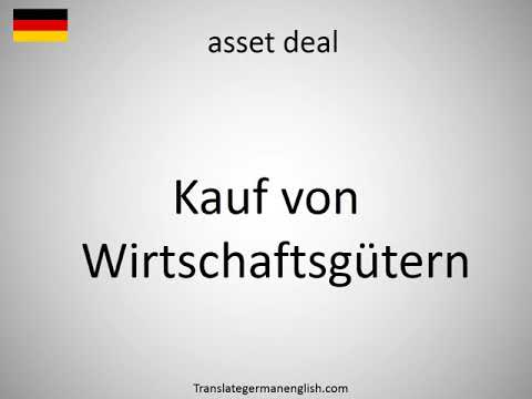 How to say asset deal in German?