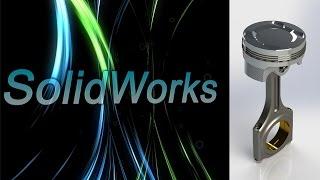 SolidWorks. Сборка поршня и шатуна. Детали машин. (Урок 22) - 5 / Уроки SolidWorks