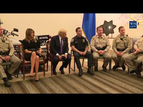 President Trump visits the Las Vegas Metropolitan Police Department