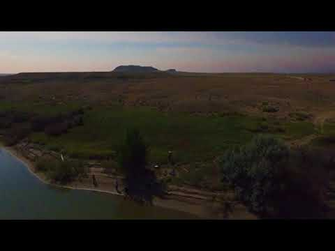 Eclipse from Drone on Wind River Indian Reservation