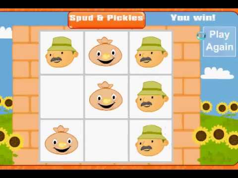 Spud & pickles tic-tac-toe game win 2 times