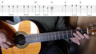 Маленькой ёлочке холодно зимой на гитаре + табы