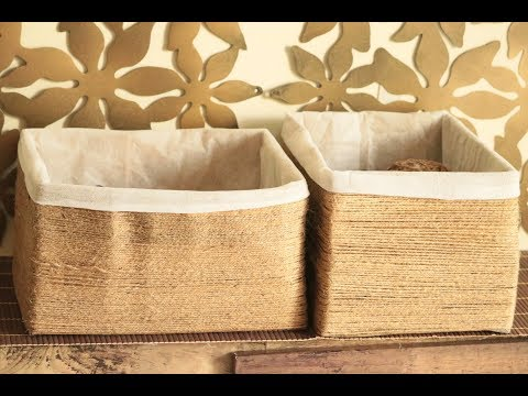 How to reuse old boxes | DIY Twine box | Diy organiser