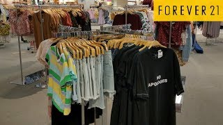 BACK TO SCHOOL SHOPPING FOREVER 21 YOUNG MENS CLOTHING KIDS WALK THROUGH JULY 2018