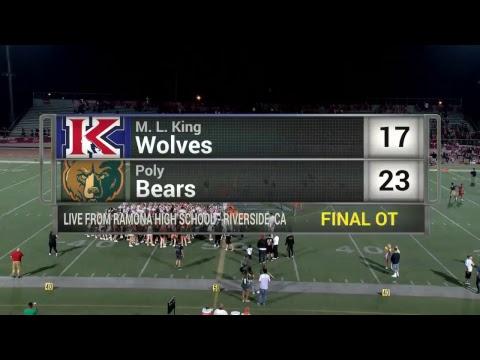 Riverside High School Football - Poly vs King
