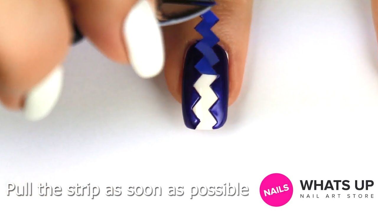 Wide zig zag nail guide tape youtube prinsesfo Choice Image