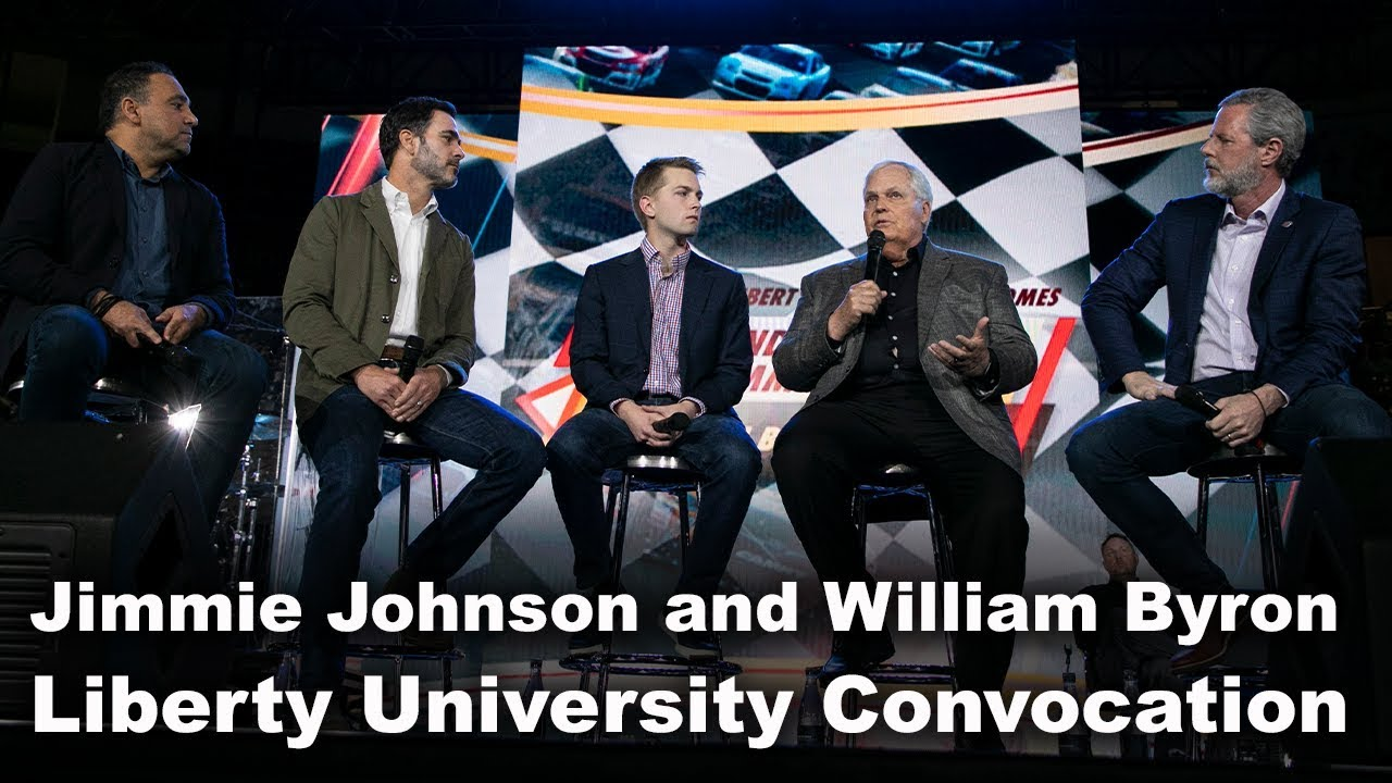 Jimmie Johnson and William Byron - Liberty University Convocation