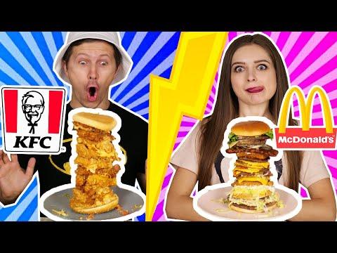 Скупили все бургеры в McDonald's и KFC! И соединили их в один! 🐞 Эльфинка - Видео онлайн